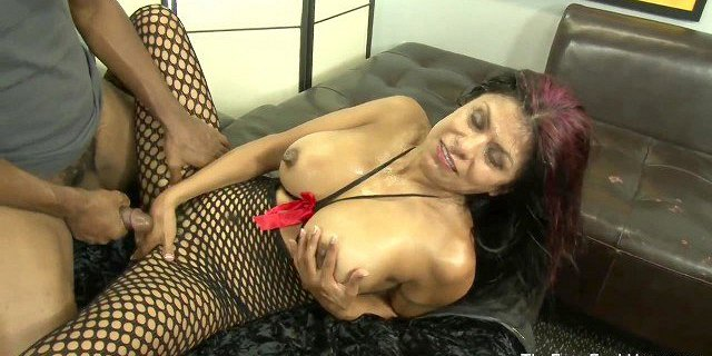 hot latina milf gets facialized from a bunch of cocks