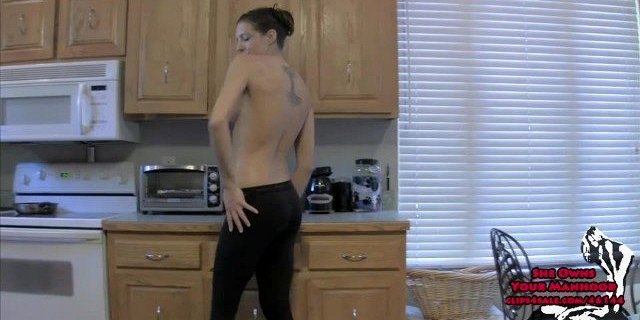 are your balls aching yet 2 sadie holmes chastity yoga pants