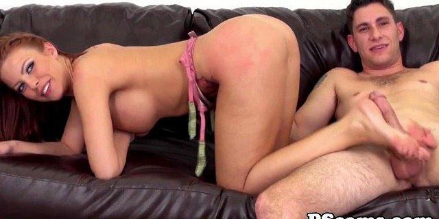 britney amber gets mouthful of cum on webcam