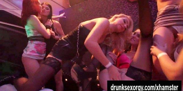 hot pornstar lesbians lick twats in the club